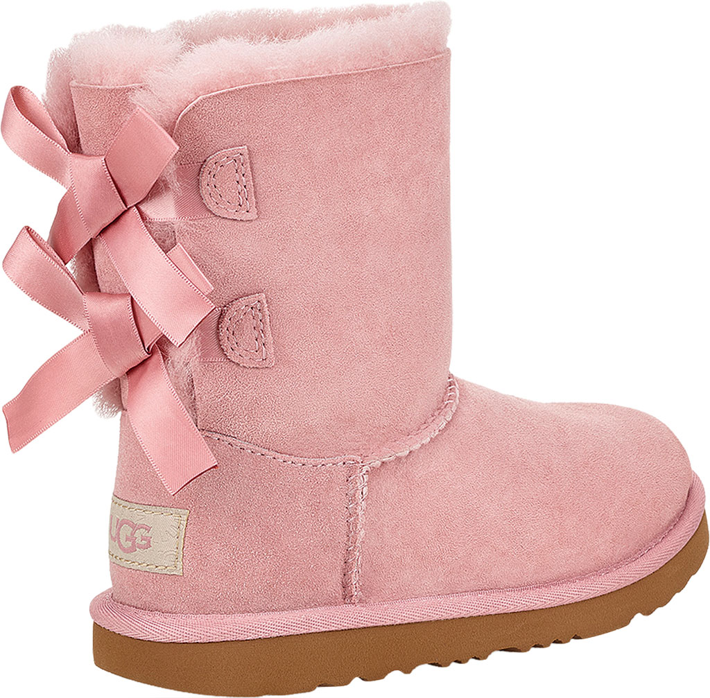 Children's UGG Bailey Bow II Kids Boot, Pink Crystal Twinface Sheepskin, large, image 4