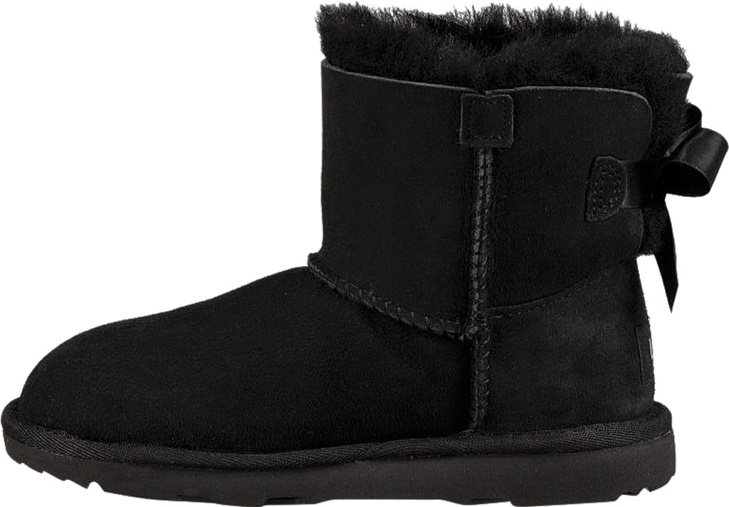 Children's UGG Mini Bailey Bow II Kids Boot, Black Twinface, large, image 3