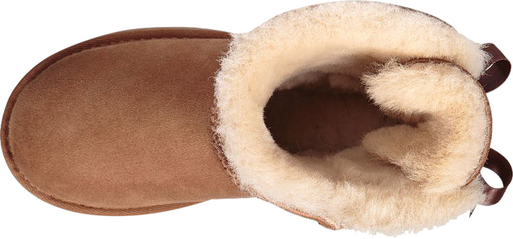 Children's UGG Mini Bailey Bow II Kids Boot, Chestnut Twinface, large, image 5