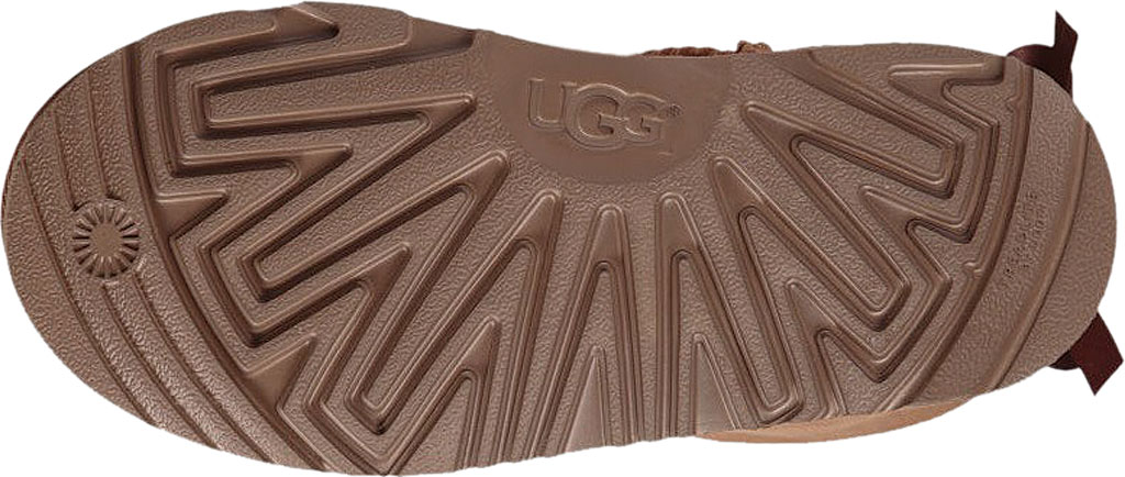 Children's UGG Mini Bailey Bow II Kids Boot, Chestnut Twinface, large, image 6