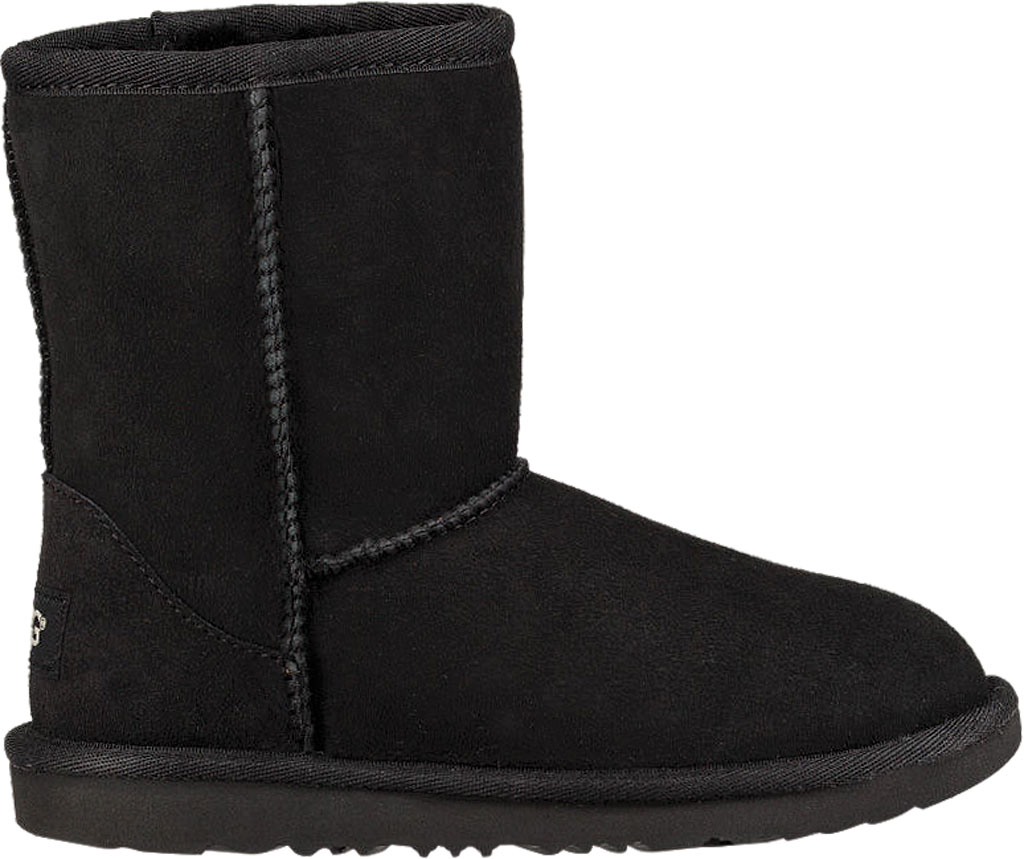 Children's UGG Classic II Kids Boot, Black Twinface, large, image 2