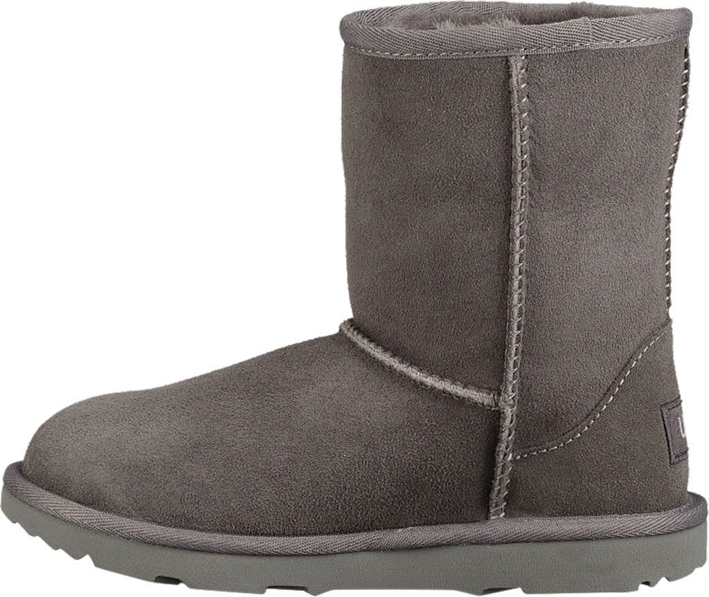 Children's UGG Classic II Kids Boot, Grey Twinface, large, image 3