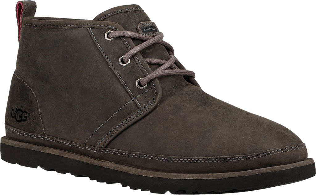 Men's UGG Neumel Waterproof Chukka Boot, Charcoal Full Grain Leather, large, image 1