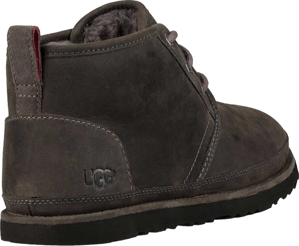 Men's UGG Neumel Waterproof Chukka Boot, Charcoal Full Grain Leather, large, image 4