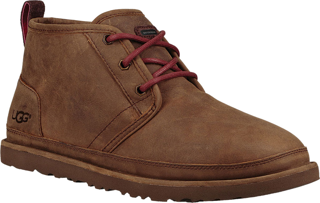 Men's UGG Neumel Waterproof Chukka Boot, Grizzly Full Grain Leather, large, image 1