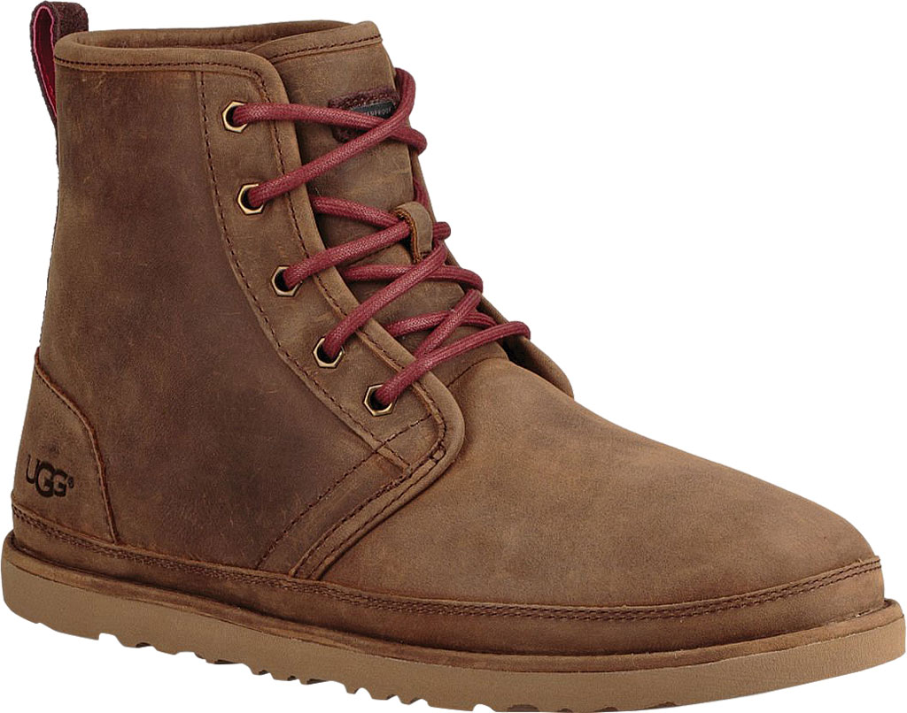 Men's UGG Harkley Waterproof Ankle Boot, Grizzly Full Grain Leather, large, image 1