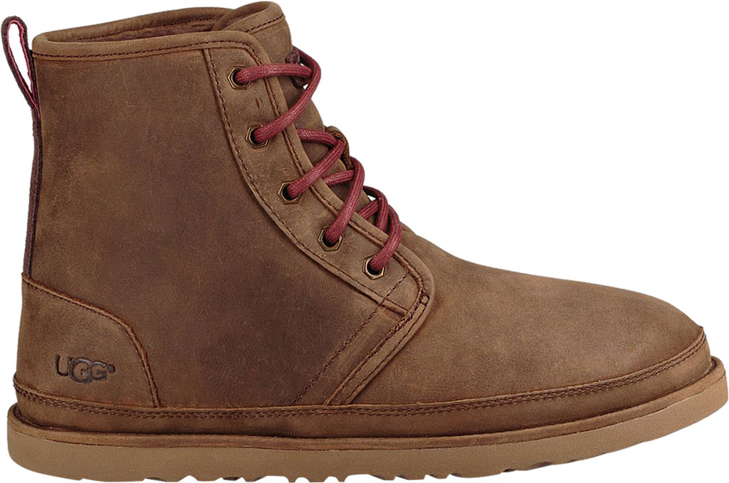 Men's UGG Harkley Waterproof Ankle Boot, Grizzly Full Grain Leather, large, image 2