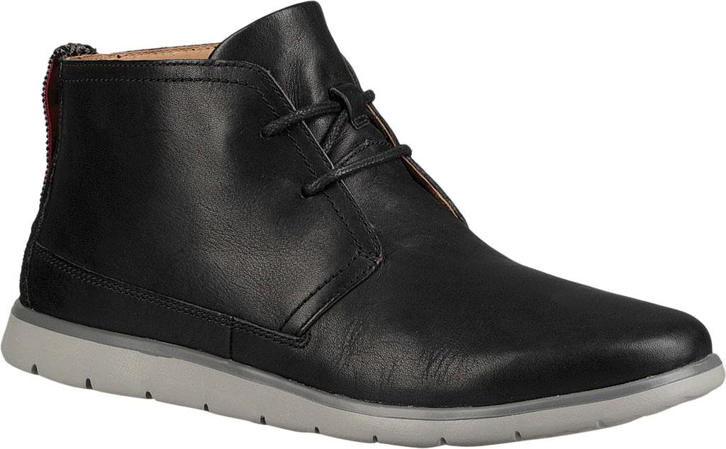 New Men's UGG Freamon Waterproof Chukka Boot Shoe and Boot, Black Full Grain Leather