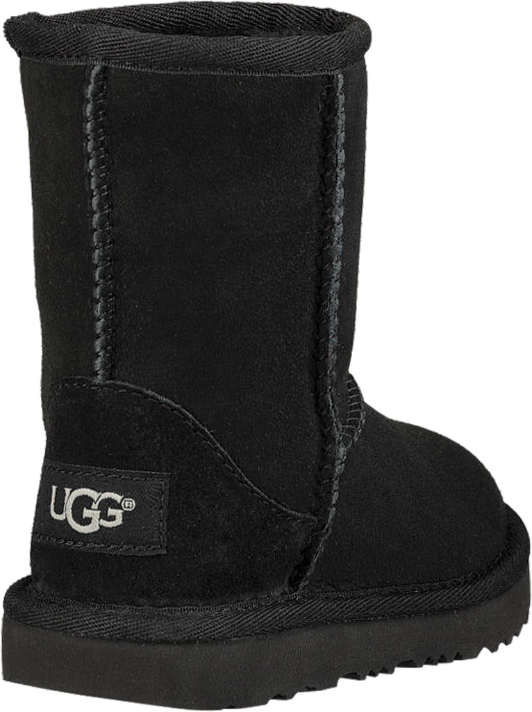 Infant UGG Classic II Toddlers Boot, Black Twinface, large, image 4