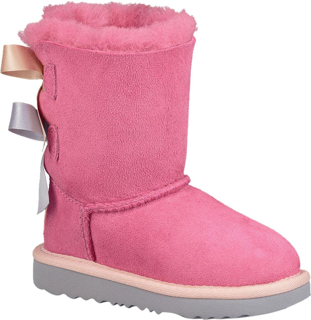 Infant UGG Bailey Bow II Toddlers Boot, Pink Azalea/Icelandic Blue Twinface, large, image 1