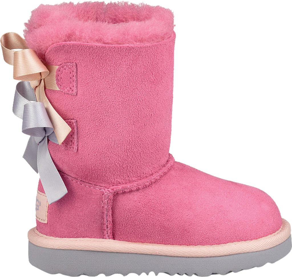 Infant UGG Bailey Bow II Toddlers Boot, Pink Azalea/Icelandic Blue Twinface, large, image 2