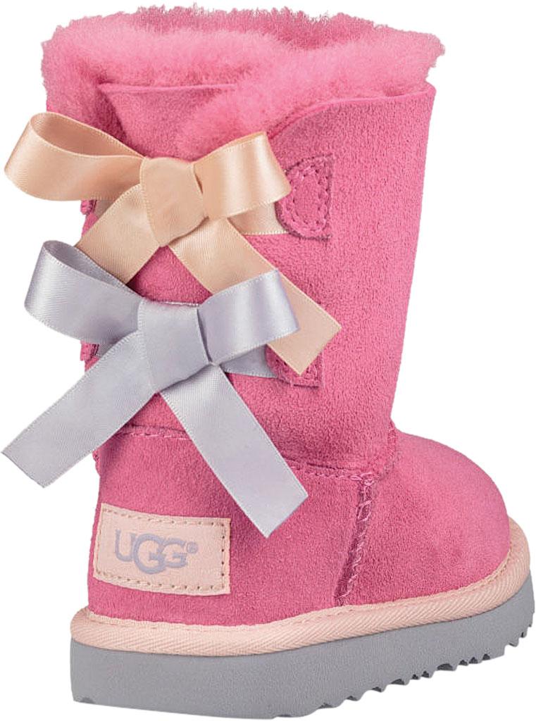 Infant UGG Bailey Bow II Toddlers Boot, Pink Azalea/Icelandic Blue Twinface, large, image 4