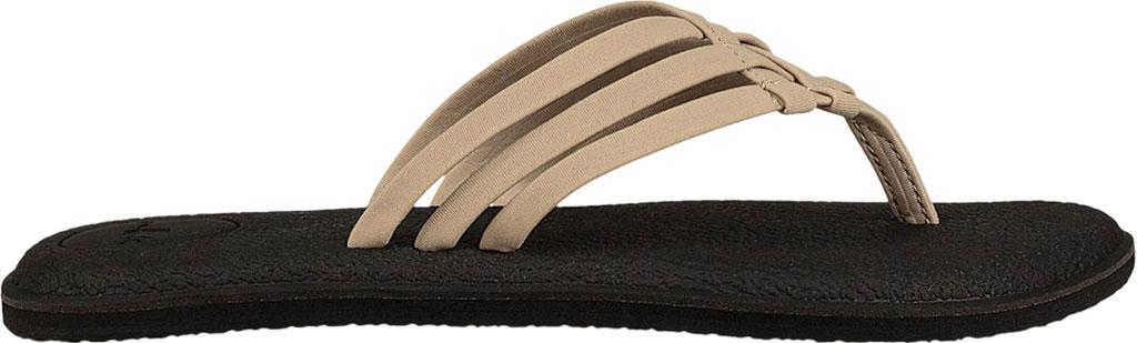 Women's Sanuk Yoga Salty Thong Sandal, Natural Synthetic, large, image 1
