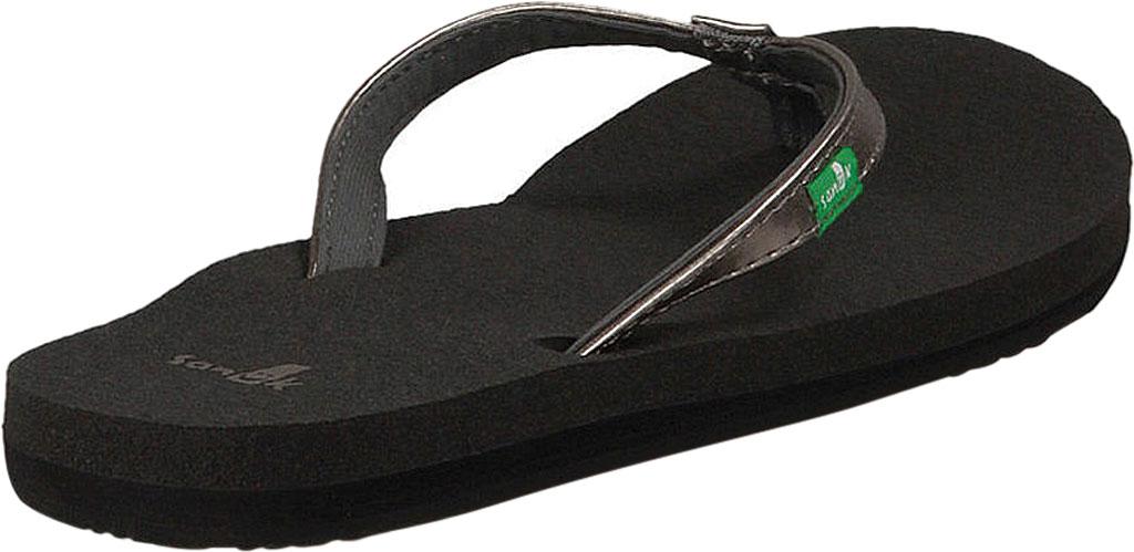 Women's Sanuk Yoga Joy Metallic Thong Sandal, Pewter Metallic Synthetic, large, image 4