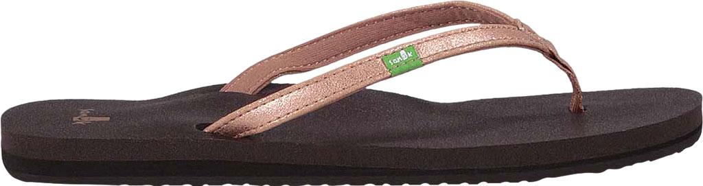 Women's Sanuk Yoga Joy Metallic Thong Sandal, Rose Gold Metallic Synthetic, large, image 2