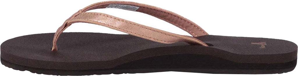 Women's Sanuk Yoga Joy Metallic Thong Sandal, Rose Gold Metallic Synthetic, large, image 3