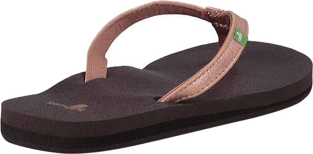 Women's Sanuk Yoga Joy Metallic Thong Sandal, Rose Gold Metallic Synthetic, large, image 4
