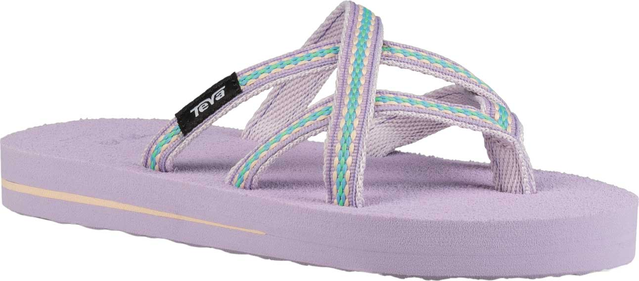 Children's Teva Olowahu Strappy Thong Big Kid, Lindi Orchid Bloom Textile, large, image 1