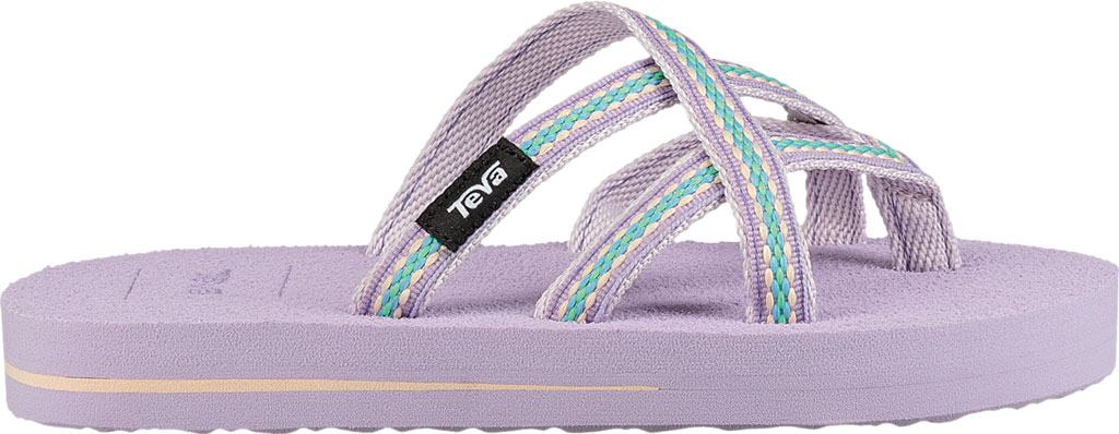 Children's Teva Olowahu Strappy Thong Big Kid, Lindi Orchid Bloom Textile, large, image 2