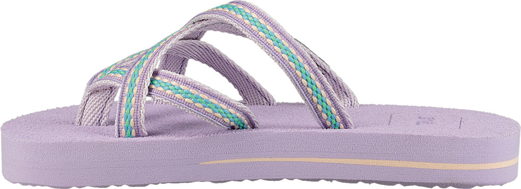 Children's Teva Olowahu Strappy Thong Big Kid, Lindi Orchid Bloom Textile, large, image 3