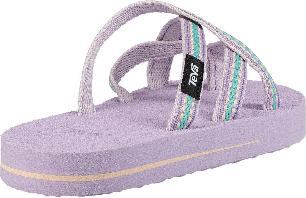 Children's Teva Olowahu Strappy Thong Big Kid, Lindi Orchid Bloom Textile, large, image 4