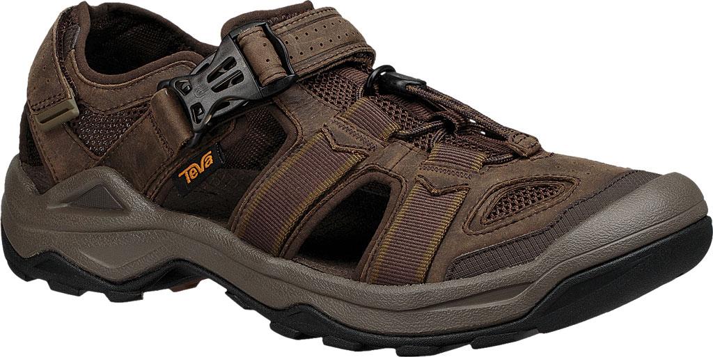 Men's Teva Omnium 2 Leather Walking Sandal, Turkish Coffee Leather, large, image 1