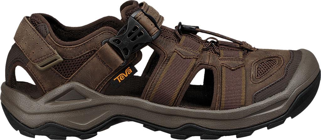 Men's Teva Omnium 2 Leather Walking Sandal, Turkish Coffee Leather, large, image 2