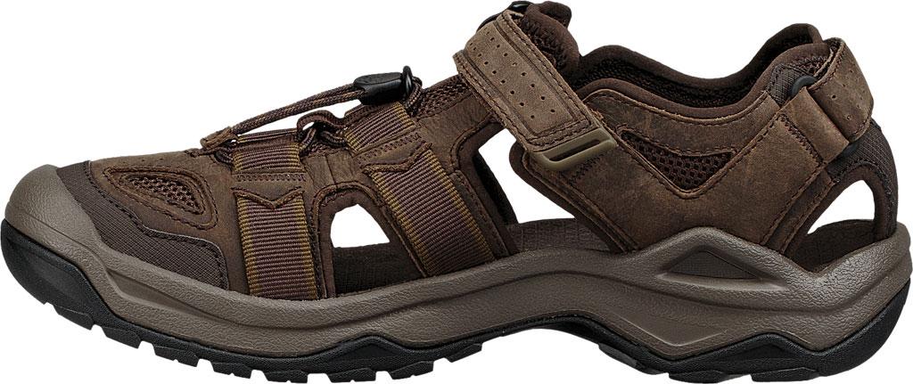 Men's Teva Omnium 2 Leather Walking Sandal, Turkish Coffee Leather, large, image 3