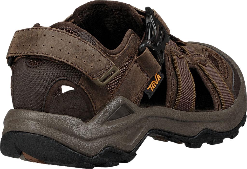 Men's Teva Omnium 2 Leather Walking Sandal, Turkish Coffee Leather, large, image 4