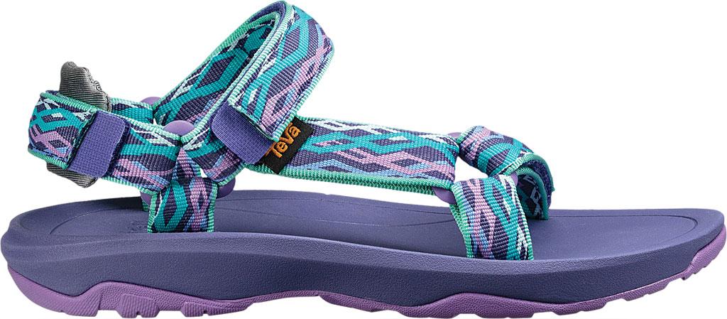 Children's Teva Hurricane XLT 2 Active Sandal Little Kid, Delmar Sea Glass/Purple Textile, large, image 2