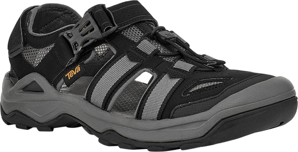 Men's Teva Omnium 2 Walking Sandal, Black Synthetic/Textile, large, image 1