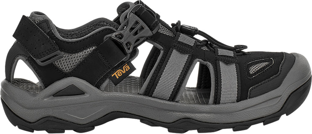 Men's Teva Omnium 2 Walking Sandal, Black Synthetic/Textile, large, image 2