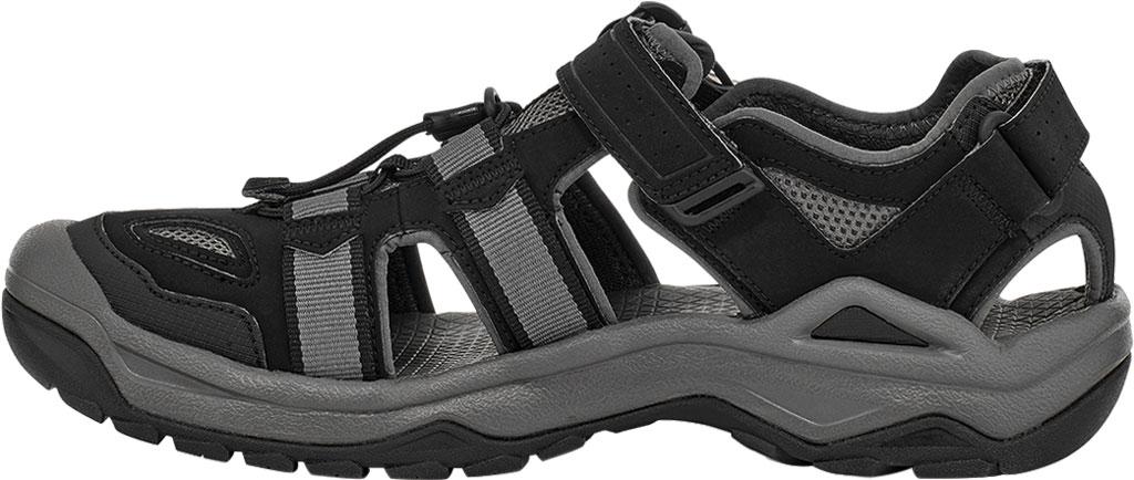 Men's Teva Omnium 2 Walking Sandal, Black Synthetic/Textile, large, image 3