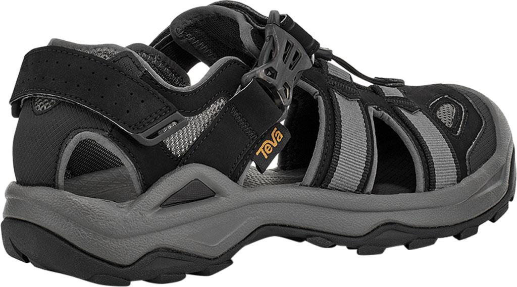 Men's Teva Omnium 2 Walking Sandal, Black Synthetic/Textile, large, image 4
