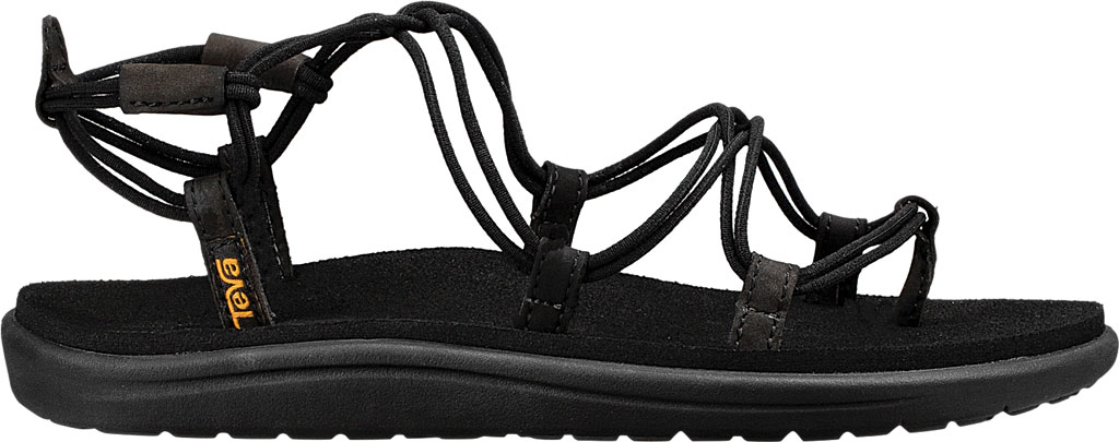 Women's Teva Voya Infinity Strappy Sandal, Black Textile, large, image 2