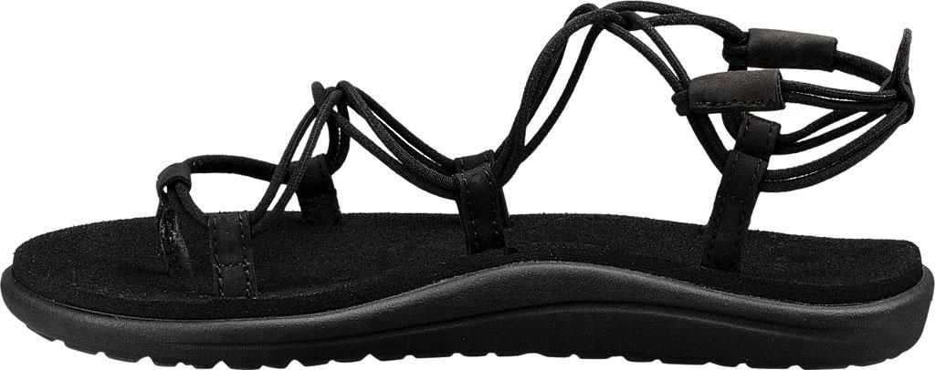 Women's Teva Voya Infinity Strappy Sandal, Black Textile, large, image 3