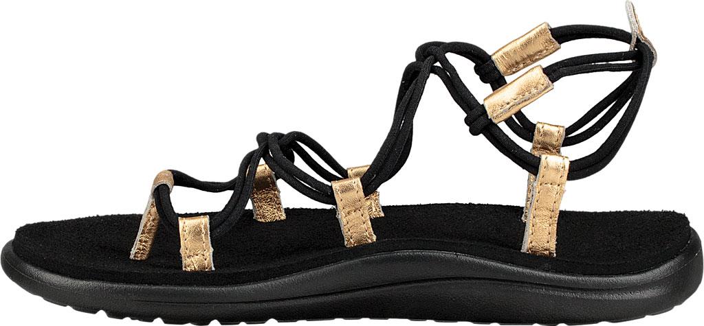 Women's Teva Voya Infinity Strappy Sandal, Black/Gold Polyester, large, image 3
