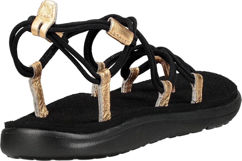 Women's Teva Voya Infinity Strappy Sandal, Black/Gold Polyester, large, image 4