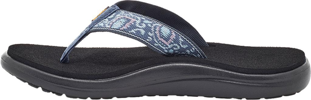 Women's Teva Voya Flip Flop, Doria Blue Indigo Textile, large, image 3