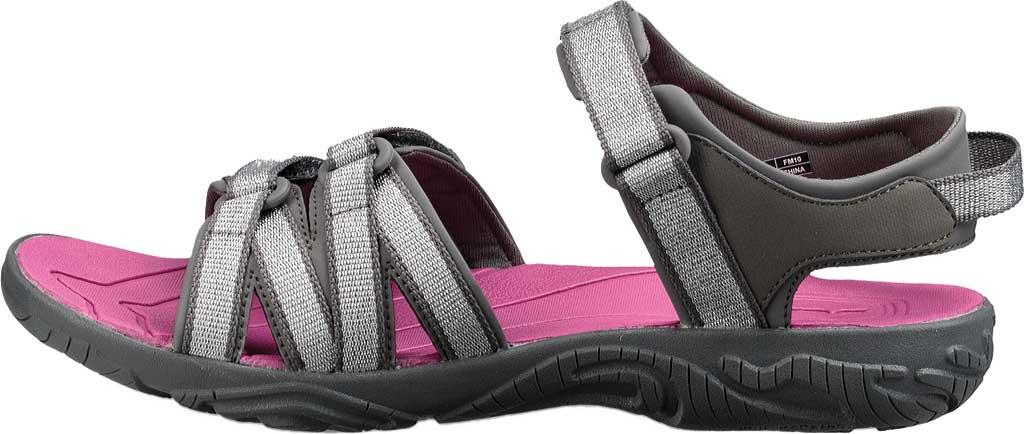 Children's Teva Tirra Sport Sandal - Big Kid, Silver/Magenta Synthetic/Textile, large, image 3
