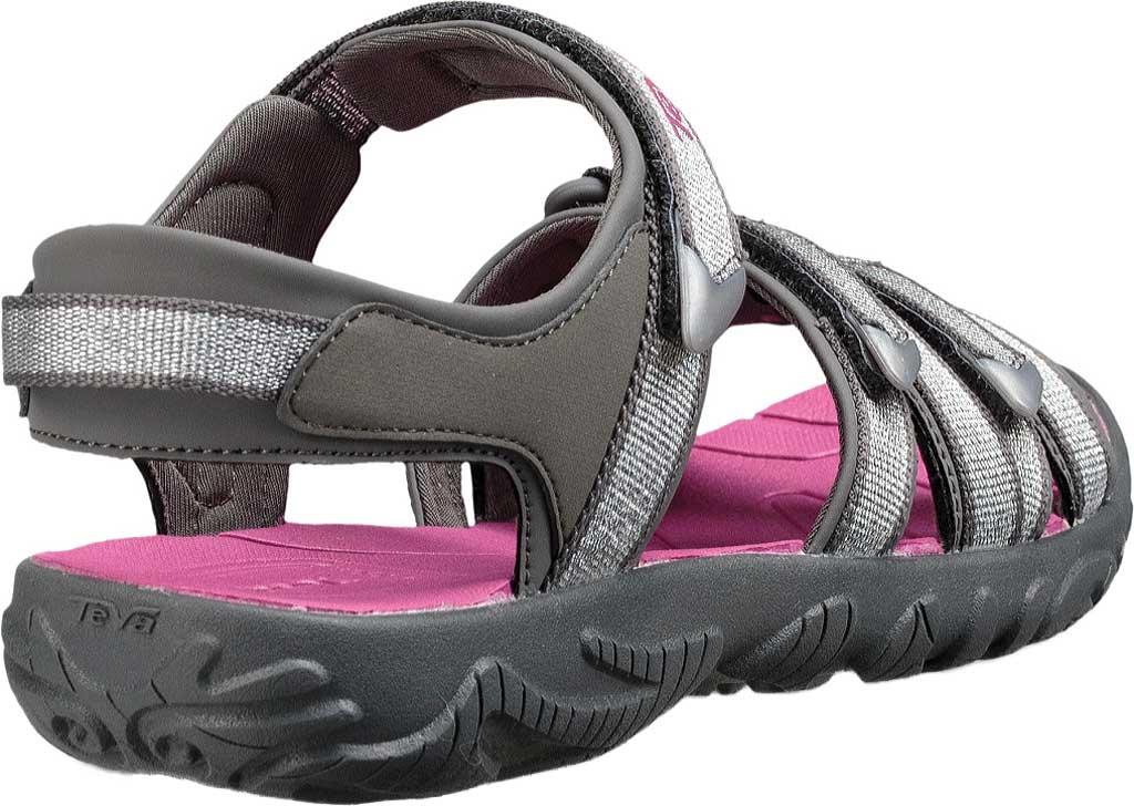 Children's Teva Tirra Sport Sandal - Big Kid, Silver/Magenta Synthetic/Textile, large, image 4