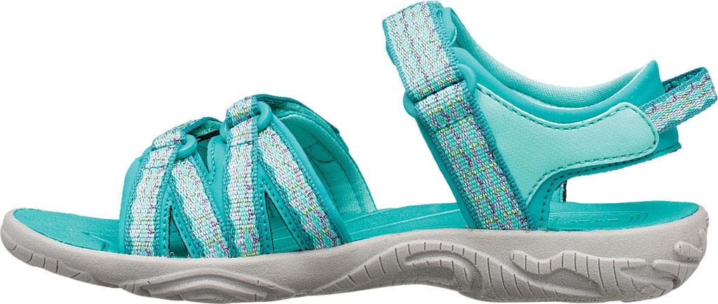 Children's Teva Tirra Sport Sandal - Big Kid, Camino Metallic Teal Blue Textile/Synthetic, large, image 3