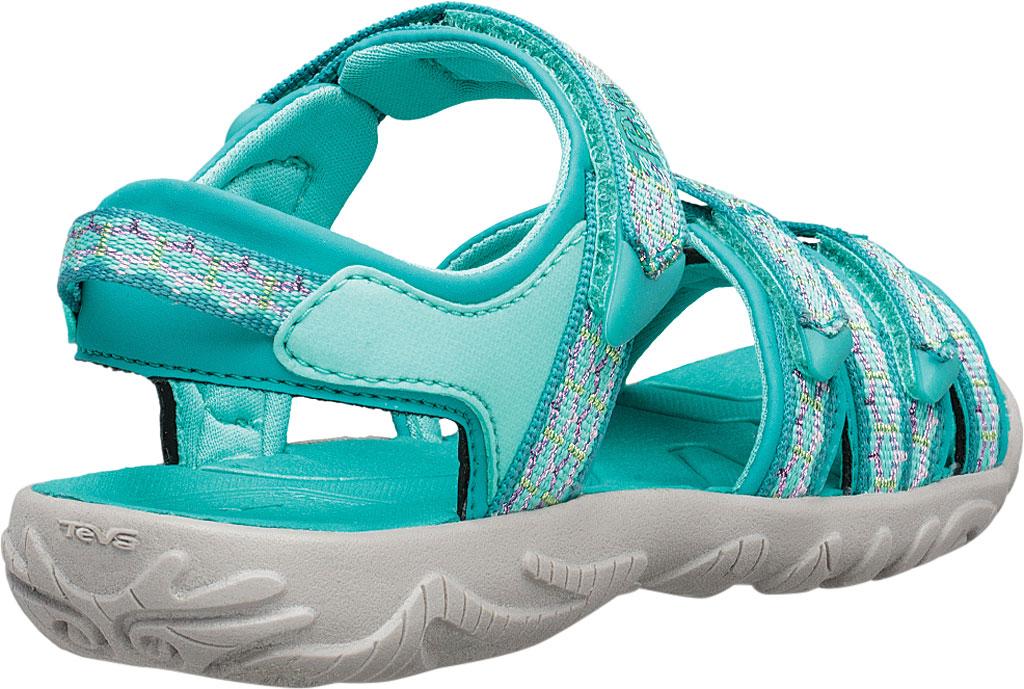 Children's Teva Tirra Sport Sandal - Big Kid, Camino Metallic Teal Blue Textile/Synthetic, large, image 4
