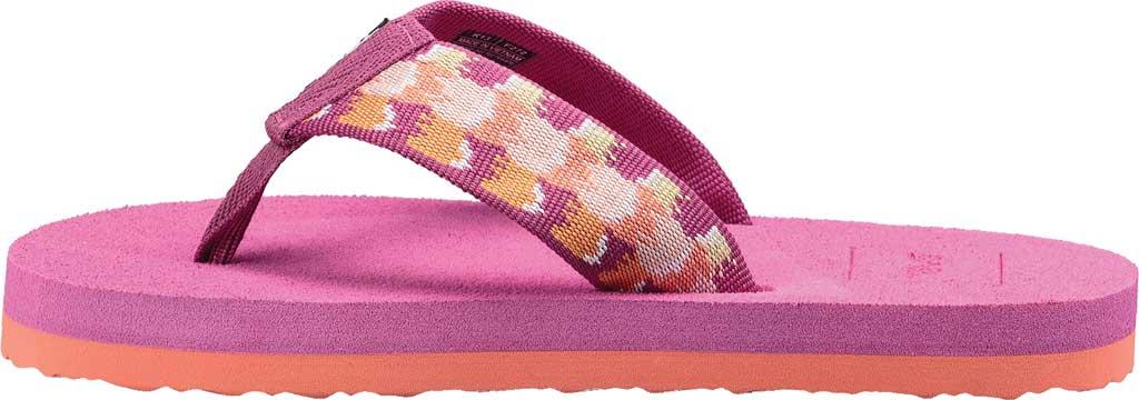 Children's Teva Mush II Thong Sandal - Big Kid, Rhia Pink Textile, large, image 3