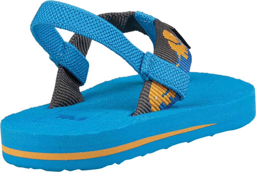 Infant Teva Mush II Thong Sandal, Elephants Brilliant Blue Textile, large, image 4