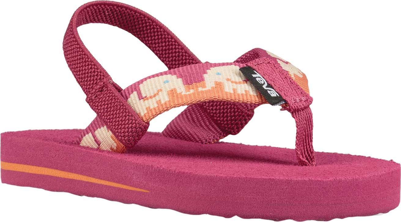 Infant Teva Mush II Thong Sandal, Elephants Vivacious Pink Textile, large, image 1