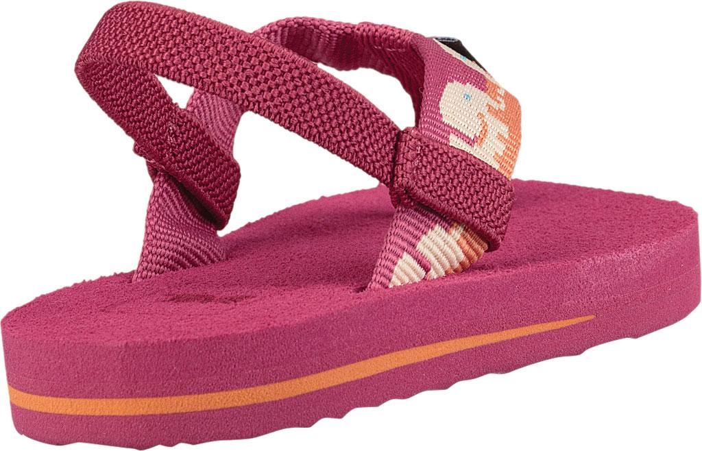 Infant Teva Mush II Thong Sandal, Elephants Vivacious Pink Textile, large, image 4
