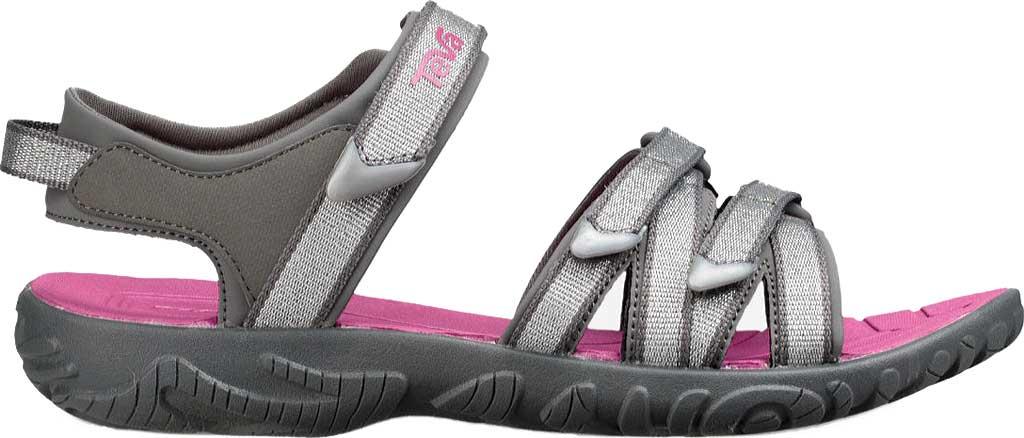 Children's Teva Tirra Sport Sandal - Little Kid, Silver/Magenta Synthetic/Textile, large, image 2