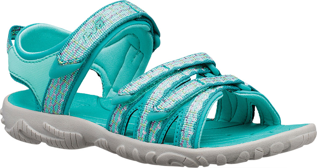 Children's Teva Tirra Sport Sandal - Little Kid, Camino Metallic Teal Blue Textile/Synthetic, large, image 1
