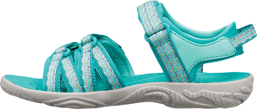Children's Teva Tirra Sport Sandal - Little Kid, Camino Metallic Teal Blue Textile/Synthetic, large, image 3